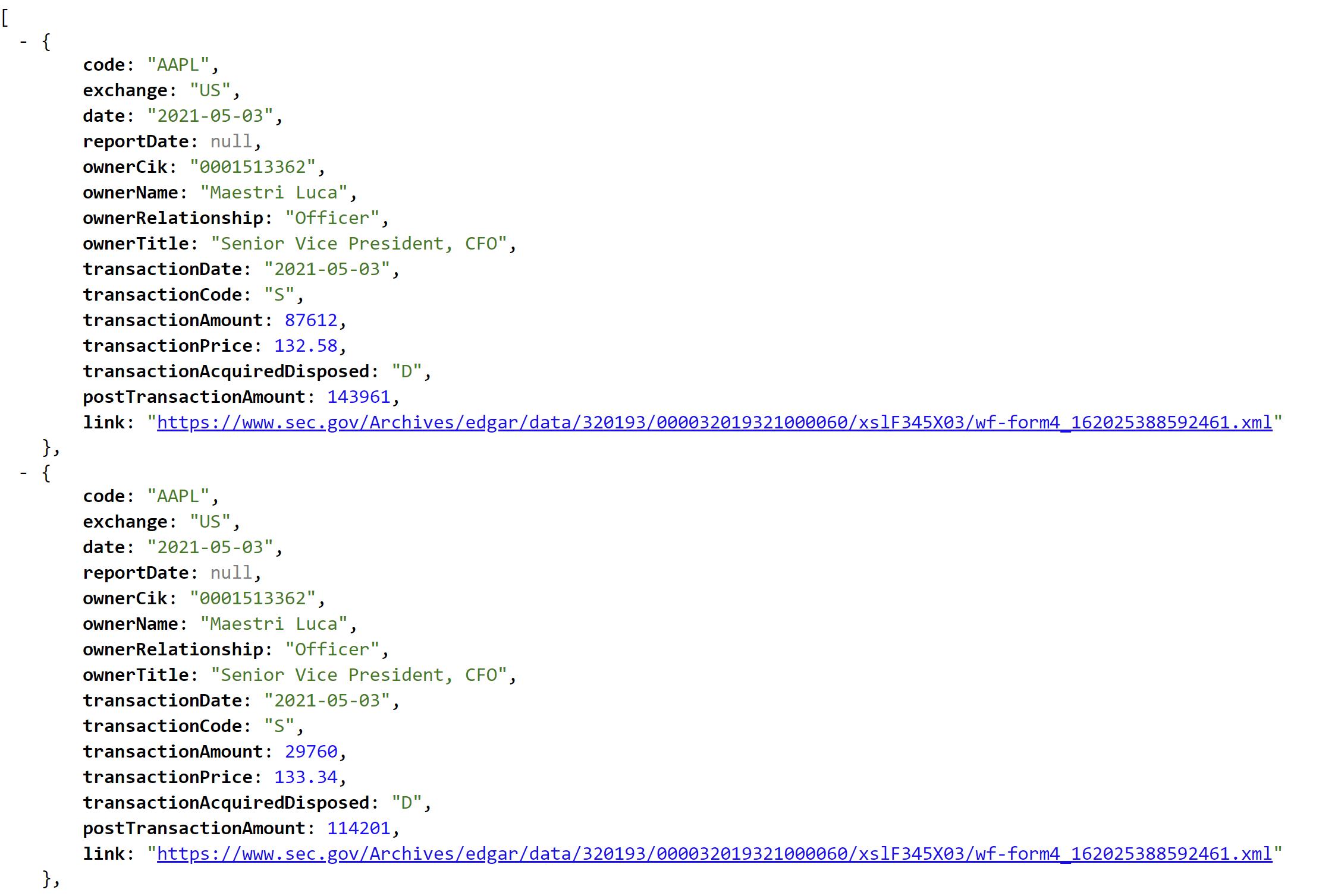 Insider Transactions API